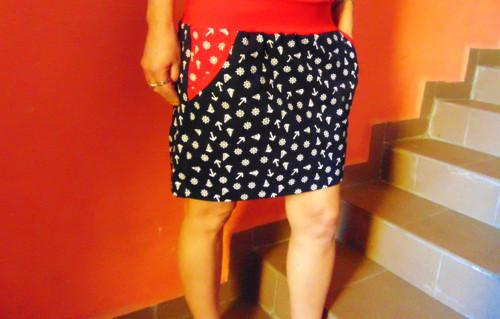 sukně kotvičky a kormidla s kapsama