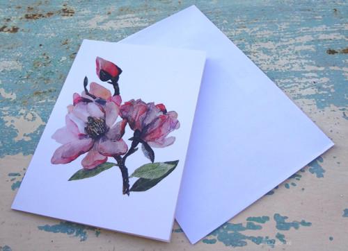 Magnolia. přání a obrázek 2v1