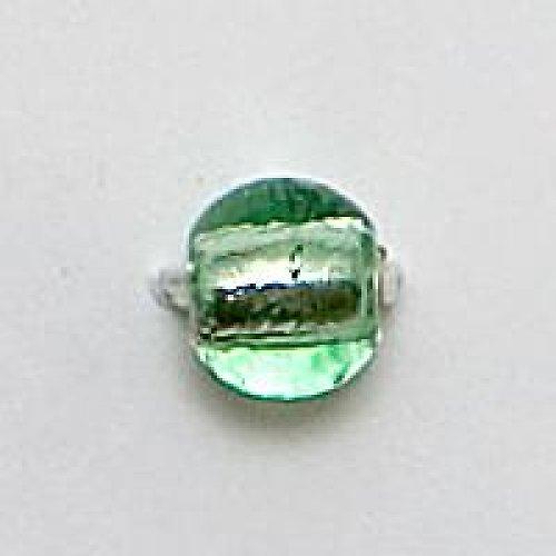Kulička stříbráky 8mm světle zelená