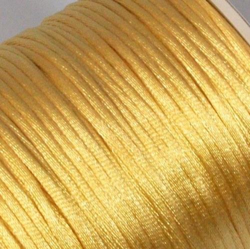 Saténová šňůrka 2 mm / zlatavá