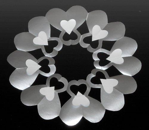 Laminovaná podložka pod svíčku - srdce