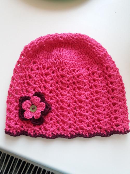 Letní čepice růžová