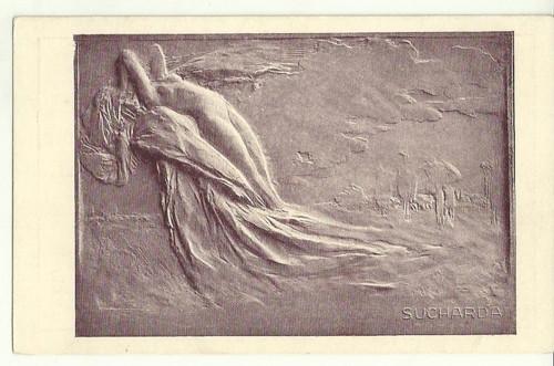 Umělecká pohlednice relief St.Sucharda Meluzína
