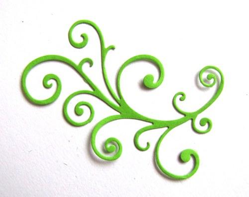 Rostlinný ornament jemný - barva podle přání