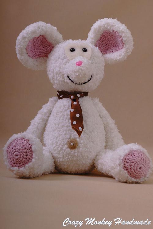 Myšiak kravaťák - 40 cm - NÁVOD V ČEŠTINE