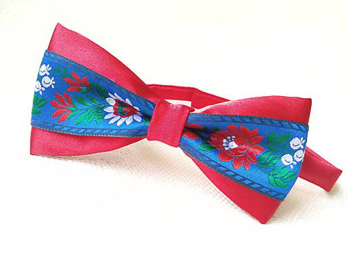 Slovak folklore bow tie (red/blue)