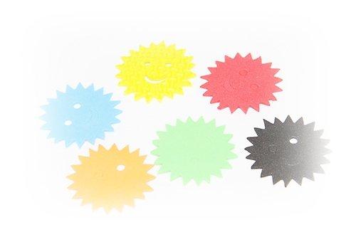 Pěnová guma-výseky - sluníčka 15ks