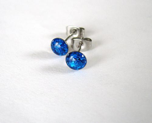 Modré  z chirurgické oceli 6mm