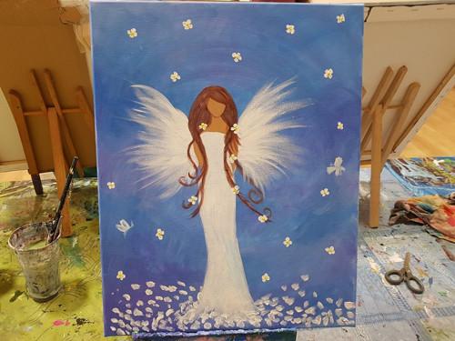 Anděl Lásky a Světla  - originál obraz na plátně