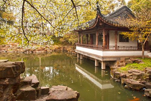 Čína - meditační zahrada v Suzhou