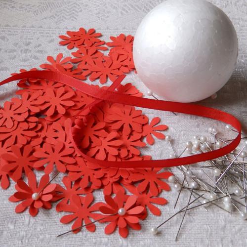 Kreativní sada - závěsná dekorace, červená