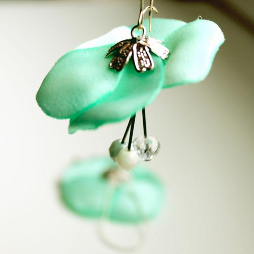 Náušnice: Minty květy