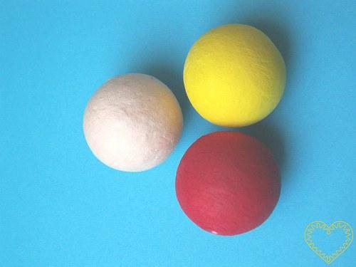 Vatová kulička žlutá ø 35 mm - 1 kus