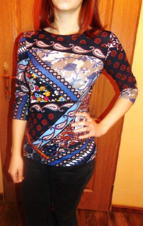 tričko lodička kašmírový vzor-2 barvy