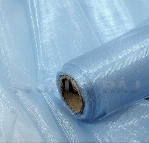 Organza šíře 37 cm, modrá