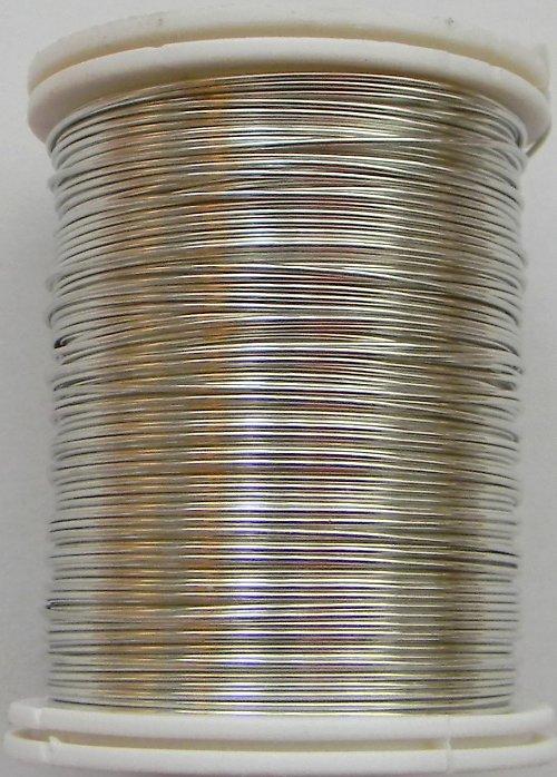 Měděný lakovaný drát 0,6 mm stříbrný