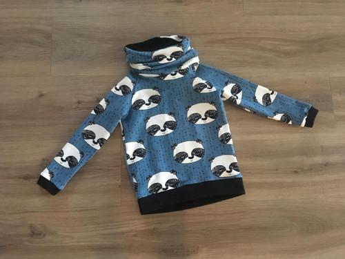 Mikina s límcem - panda na modré