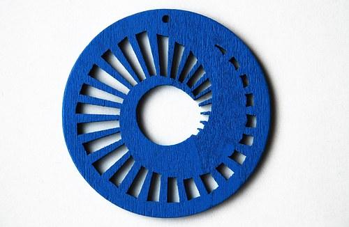 dřevěné kolečko 60 mm- sv.modré