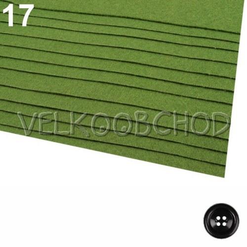 Plsť tl.0,9mm (20x30cm) - zelená