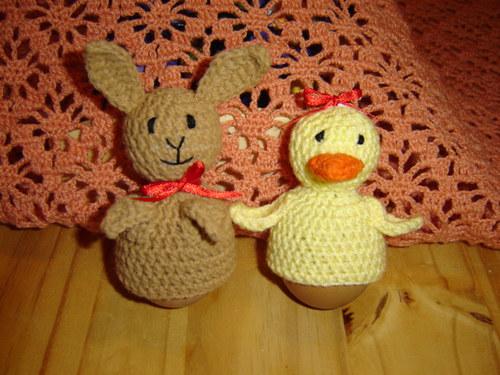 Velikonoční zajíček nebo káčátko - obal na vajíčko