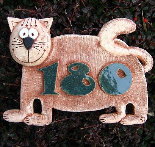 Domovní číslo na objednávku - kočička