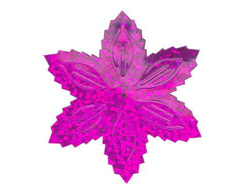 Flitry - fialová  vánoční hvězda (1433-228) 50g