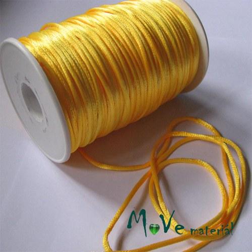 Šňůra Ø2mm saténová, žlutá, 1m