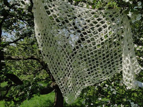 Vlněný šátek - na chalupu