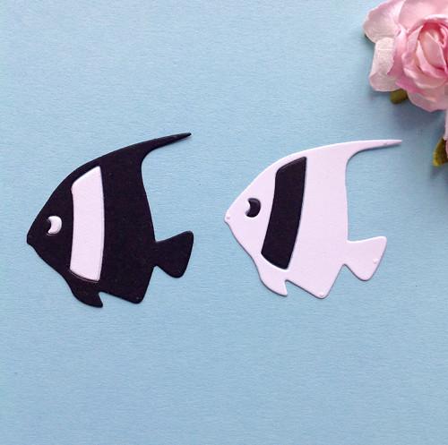 Rybičky- sada 2ks, barva dle přání (výsek) MOR 1