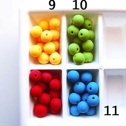 korálky akryl MATT / modrá stř.č.11 / 10mm / 8ks