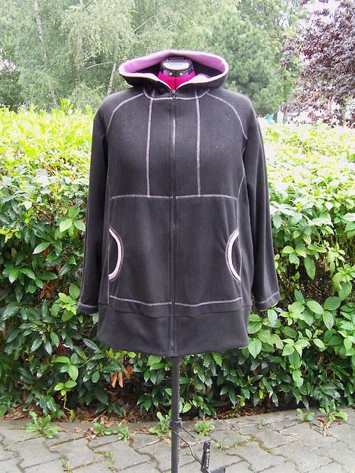 flísová mikina s kapucí vel.50-52