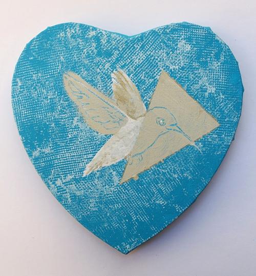 Kolibřík v modré