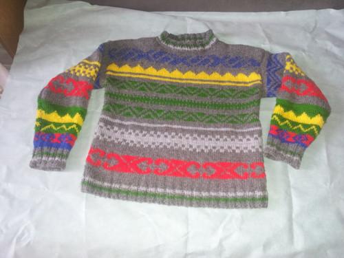 Žakárový svetr