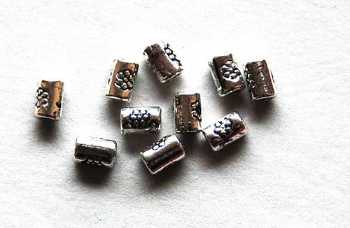 10ks kovové korálky 3x5mm
