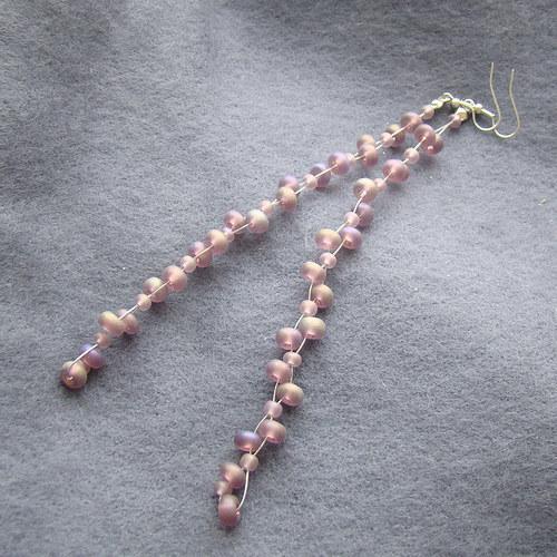 náušnice k   náhrdelníku červánkovému