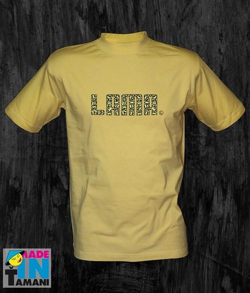 Pánské světle žluté tričko Lama 04