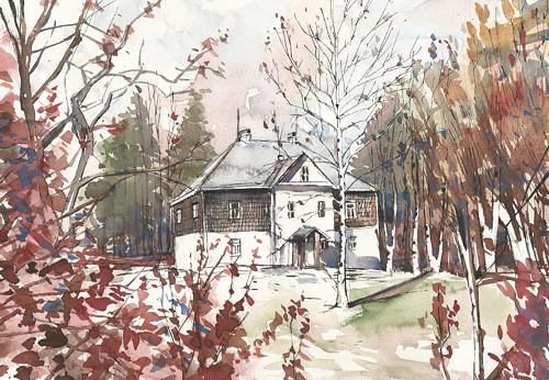 Rodný dům, obraz na objednávku dle Vašeho fota A3