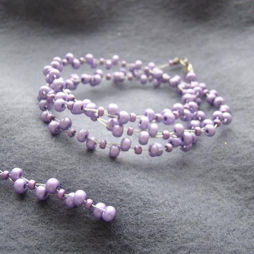 náhrdelník šeříkový