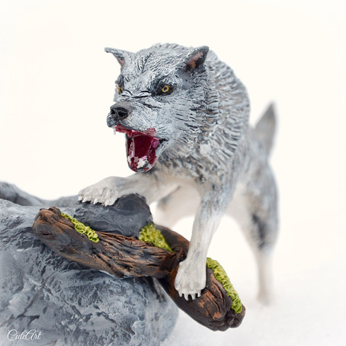 Vlk - stojan na fajfku