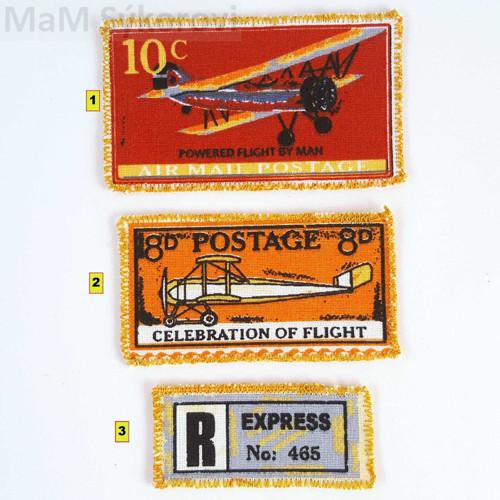 Nažehlovací záplata letecké známky