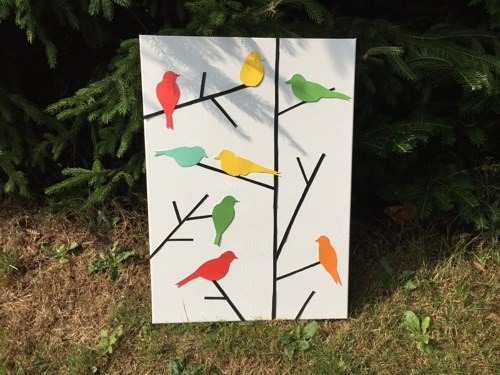 Radostni ptaci na prani