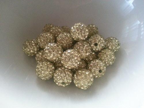 Nádherné shamballa korálky zlatá