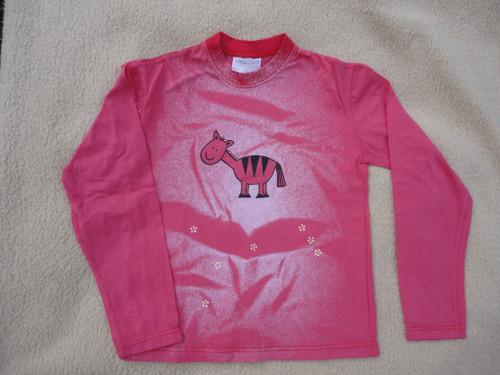 """Dětské červené tričko \""""zebra\"""" vel. 116"""