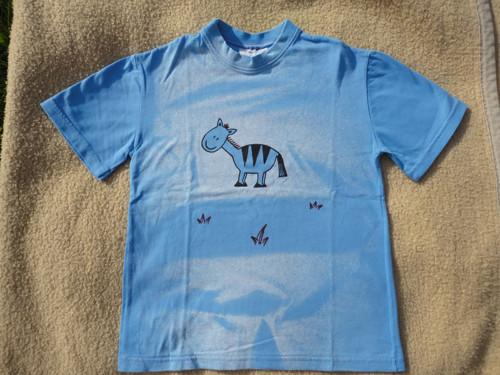 """Dětské modré tričko \""""zebra\"""" vel. 122"""