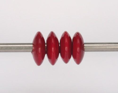 Big hole bead - červený disk