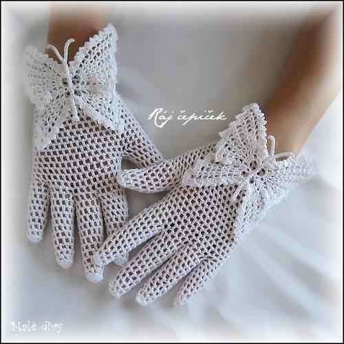 c41c150f3be krajkové háčkované rukavičky na křídlech motýlích · Ráj čepiček