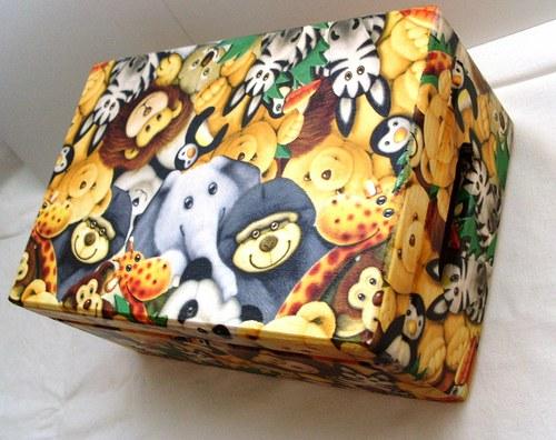 krabice (box) s víkem + úchyty madagaskar