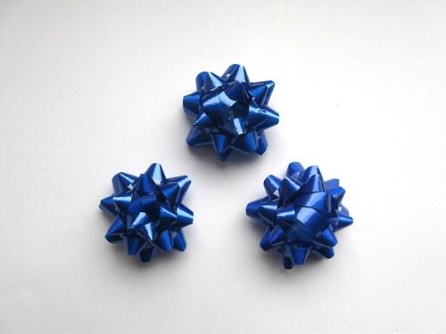 Mašlička - modrá 3ks (4cm)