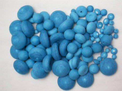 vata - buničina - 100 dílků - tvoření - modrá
