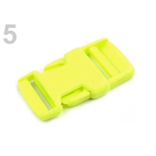 Spona trojzubec š. 25 mm (5sad) - zelená neon